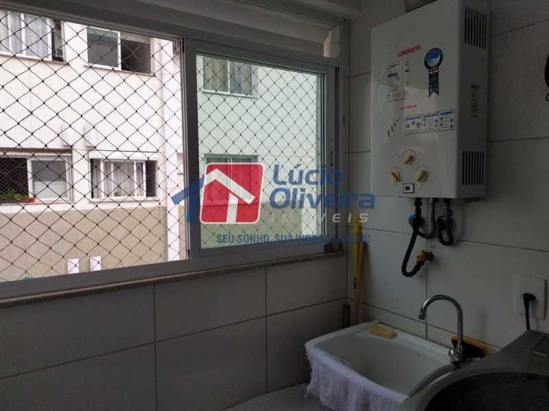 Área de serviço - Apartamento à venda Rua Retiro dos Artistas,Pechincha, Rio de Janeiro - R$ 480.000 - VPAP30417 - 17