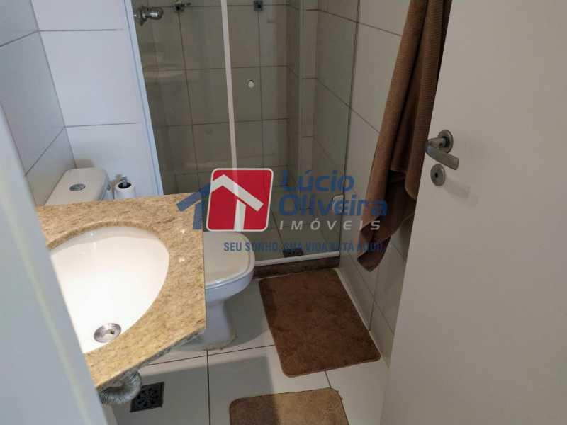 Banheiro social,,,, - Apartamento à venda Rua Retiro dos Artistas,Pechincha, Rio de Janeiro - R$ 480.000 - VPAP30417 - 11