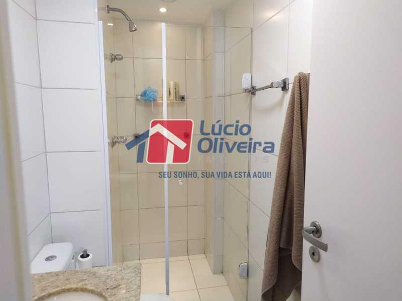 Banheiro social, - Apartamento à venda Rua Retiro dos Artistas,Pechincha, Rio de Janeiro - R$ 480.000 - VPAP30417 - 12