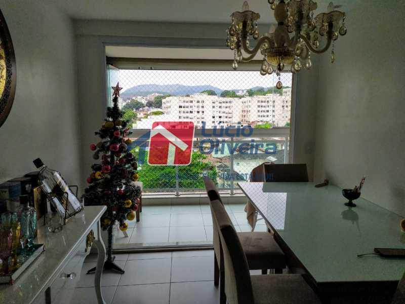 Sala, - Apartamento à venda Rua Retiro dos Artistas,Pechincha, Rio de Janeiro - R$ 480.000 - VPAP30417 - 3