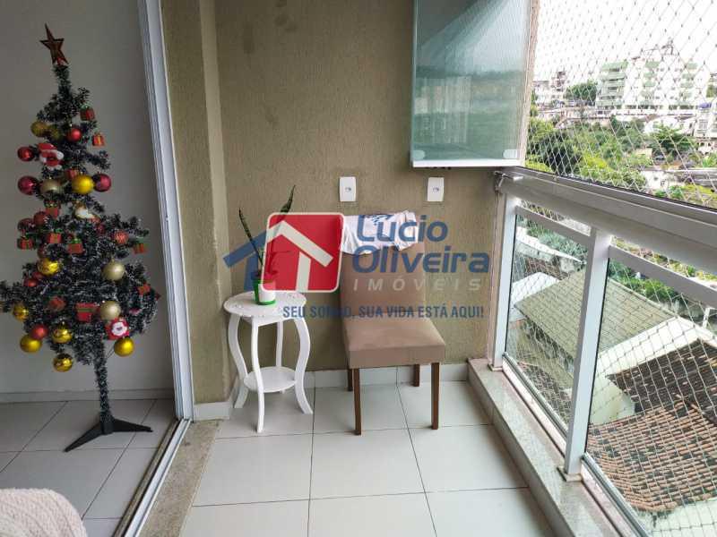 Varanda - Apartamento à venda Rua Retiro dos Artistas,Pechincha, Rio de Janeiro - R$ 480.000 - VPAP30417 - 5