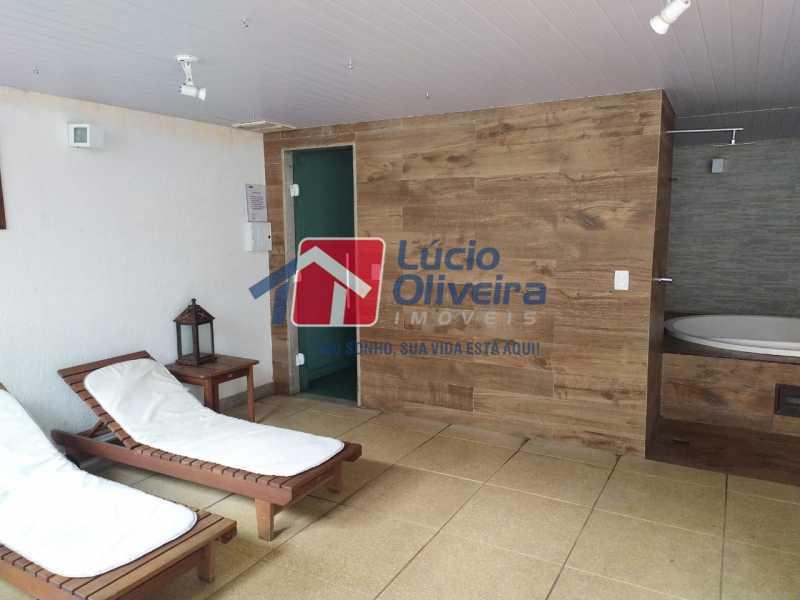 Sauna e hidromassagens - Apartamento à venda Rua Retiro dos Artistas,Pechincha, Rio de Janeiro - R$ 480.000 - VPAP30417 - 26