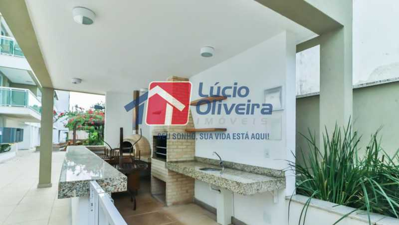 churrasqueria - Apartamento à venda Rua Retiro dos Artistas,Pechincha, Rio de Janeiro - R$ 480.000 - VPAP30417 - 30
