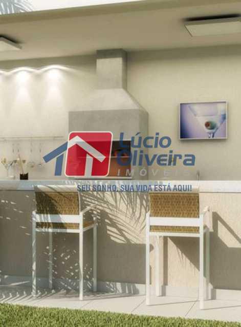 Area Gourmet - Apartamento à venda Estrada do Barro Vermelho,Rocha Miranda, Rio de Janeiro - R$ 195.000 - VPAP21649 - 10