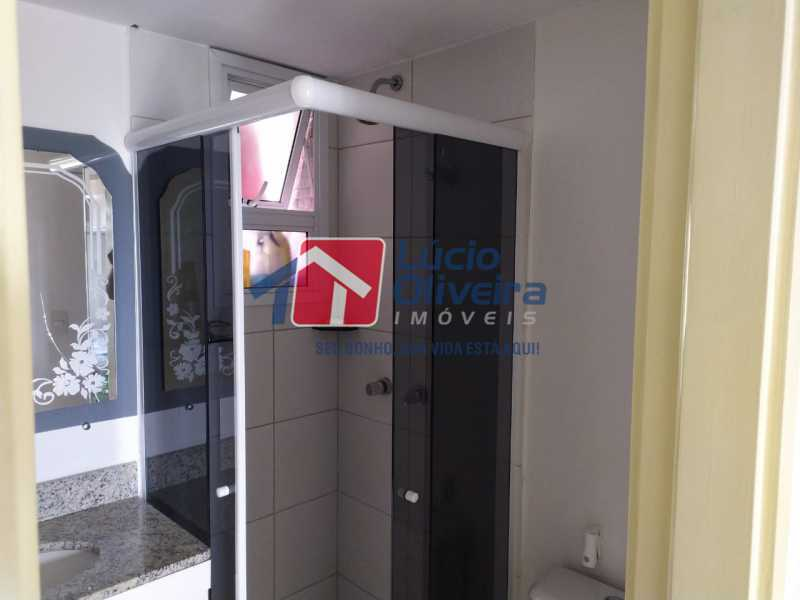 Banheiro. - Apartamento à venda Rua Cerqueira Daltro,Cascadura, Rio de Janeiro - R$ 265.000 - VPAP21656 - 15