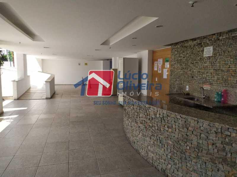 Bar da piscina - Apartamento à venda Rua Cerqueira Daltro,Cascadura, Rio de Janeiro - R$ 265.000 - VPAP21656 - 25