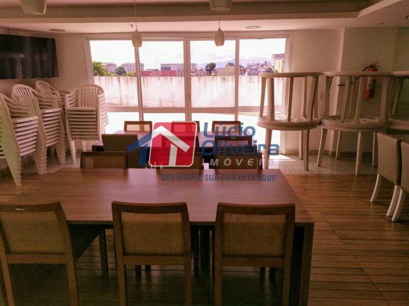 Salão de festas adulto - Apartamento à venda Rua Cerqueira Daltro,Cascadura, Rio de Janeiro - R$ 265.000 - VPAP21656 - 28
