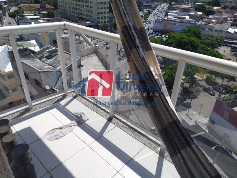 Varanda - Apartamento à venda Rua Cerqueira Daltro,Cascadura, Rio de Janeiro - R$ 265.000 - VPAP21656 - 8