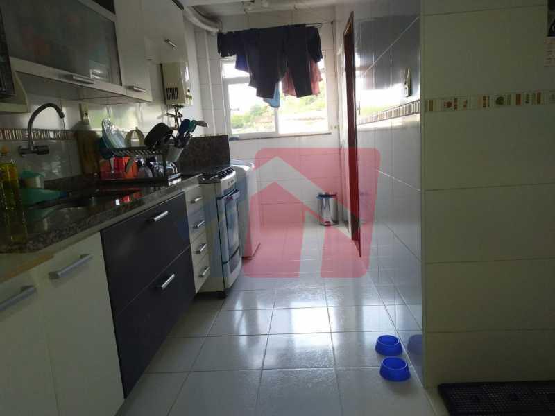 Cozinha.. - Sintuoso apartamento junto ao polo gastronômico de Vista Alegre, um maravilhoso imóvel composto por varandão em toda a extensão do imóvel , sala ampla de estar e jantar, , três quartos sendo uma súite, banheiro sociall com armário e blindex, copa-cozinha - VPAP30433 - 23