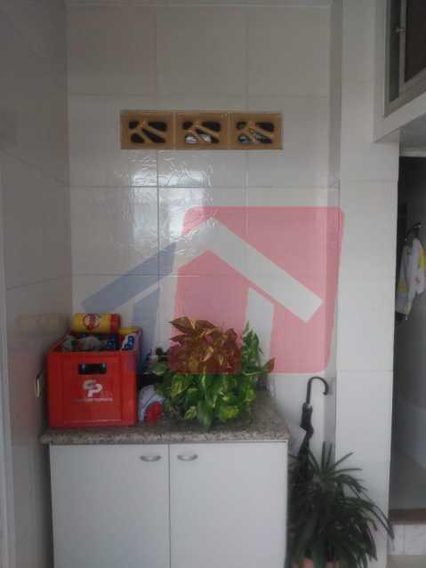 area de serviço - Casa toda moderna e acochegante, compposta por dois quartos, cozinha ampla, banheiro social com blindex, área de serviço com banheiro, sala ampla, varanda com boa localização - VPAP21709 - 5