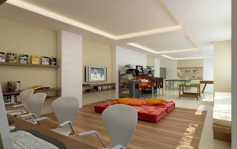 Sala de jogos - Exelente apartamento em Del Castilho em condominio fechado, alto sol da manha, com sala dois ambientes e varanda, dois quartos com um armario planejado, banheiro completo social, cozinha com armario olanejado, área de serviço e vaga na escritura, condomin - VPAP21728 - 14