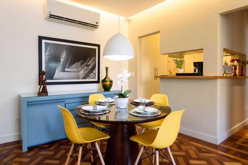 03- sala de jantar - Espetacular apartamento super arejado recém reformado, mobilhado, proximoa um farto comércio, metro e condução, composto de sala ampla em dois ambientes, dois quartos, banheiro social cozinha americana. imperdivel , imovel todo em taco, janelas enti ruid - VPAP21734 - 4