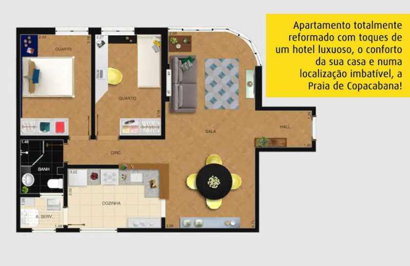 19- planta - Espetacular apartamento super arejado recém reformado, mobilhado, proximoa um farto comércio, metro e condução, composto de sala ampla em dois ambientes, dois quartos, banheiro social cozinha americana. imperdivel , imovel todo em taco, janelas enti ruid - VPAP21734 - 22