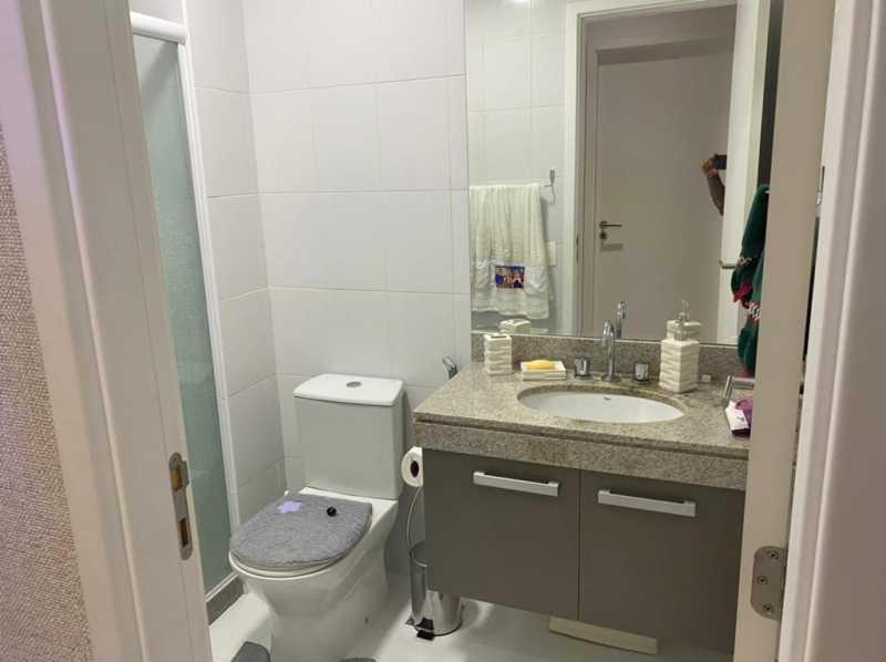 Banheiro suite. - Apartamento à venda Rua Escritor Rodrigo Melo Franco,Barra da Tijuca, Rio de Janeiro - R$ 780.000 - VPAP21744 - 14