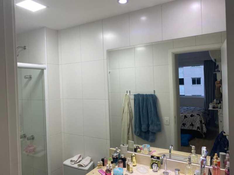 Banheiro social. - Apartamento à venda Rua Escritor Rodrigo Melo Franco,Barra da Tijuca, Rio de Janeiro - R$ 780.000 - VPAP21744 - 13