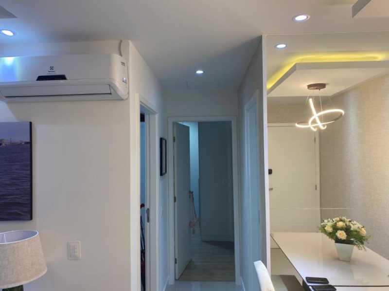 Hall dos quartos - Apartamento à venda Rua Escritor Rodrigo Melo Franco,Barra da Tijuca, Rio de Janeiro - R$ 780.000 - VPAP21744 - 8