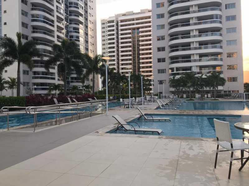 Piscina. - Apartamento à venda Rua Escritor Rodrigo Melo Franco,Barra da Tijuca, Rio de Janeiro - R$ 780.000 - VPAP21744 - 22