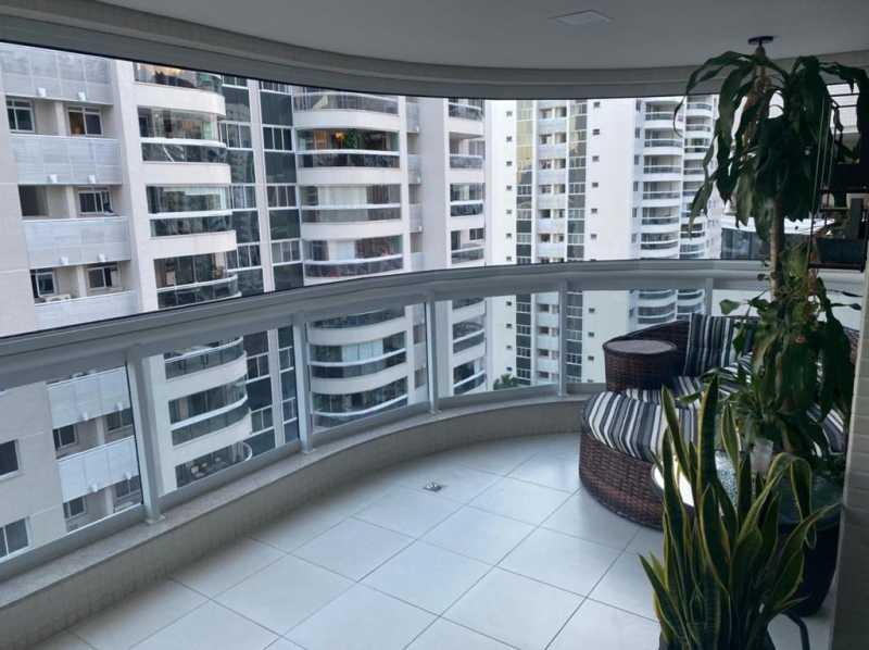 Varandão. - Apartamento à venda Rua Escritor Rodrigo Melo Franco,Barra da Tijuca, Rio de Janeiro - R$ 780.000 - VPAP21744 - 1