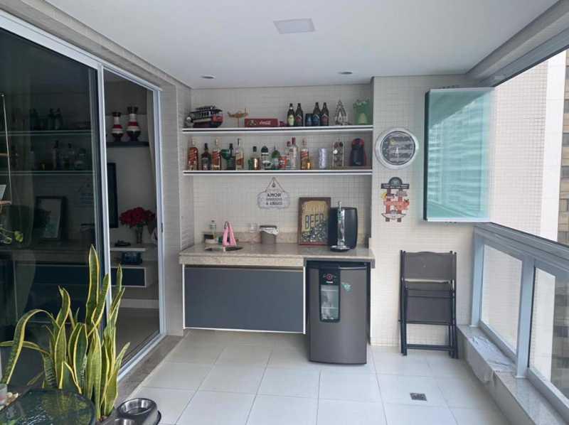 Varandão - Apartamento à venda Rua Escritor Rodrigo Melo Franco,Barra da Tijuca, Rio de Janeiro - R$ 780.000 - VPAP21744 - 5