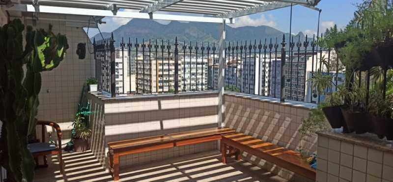 12- Area externa - Cobertura 3 quartos à venda Tijuca, Rio de Janeiro - R$ 620.000 - VPCO30039 - 13