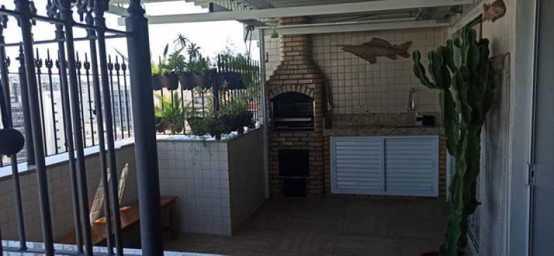 13- Area externa - Cobertura 3 quartos à venda Tijuca, Rio de Janeiro - R$ 620.000 - VPCO30039 - 14