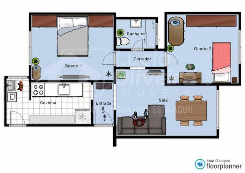 1 planta do imóvel - Apartamento à venda Estrada José Rucas,Penha, Rio de Janeiro - R$ 240.000 - VPAP21850 - 26