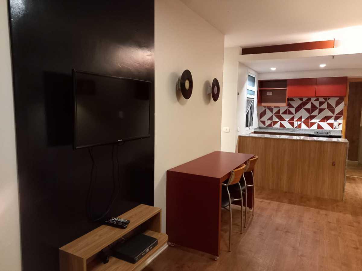 Sala/ Cozinha americana - Apartamento à venda Avenida Rainha Elizabeth da Bélgica,Ipanema, Rio de Janeiro - R$ 570.000 - CPAP11825 - 4