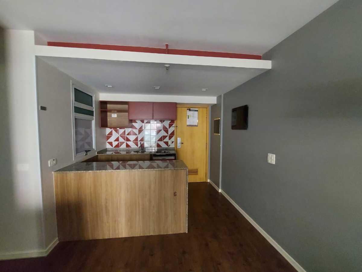 Sala/ Cozinha americana - Apartamento à venda Avenida Rainha Elizabeth da Bélgica,Ipanema, Rio de Janeiro - R$ 570.000 - CPAP11825 - 9