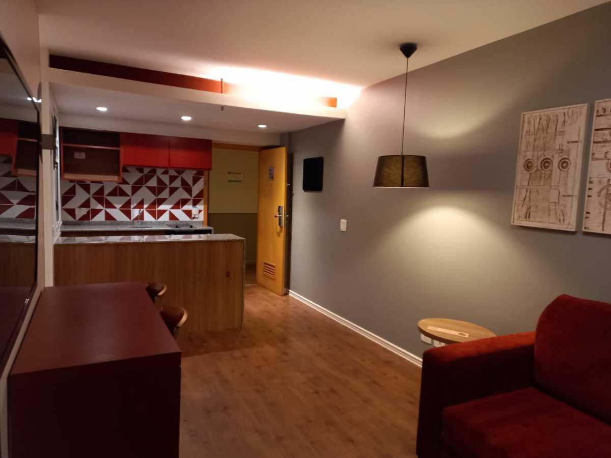 Sala/ Cozinha - Apartamento à venda Avenida Rainha Elizabeth da Bélgica,Ipanema, Rio de Janeiro - R$ 570.000 - CPAP11825 - 1
