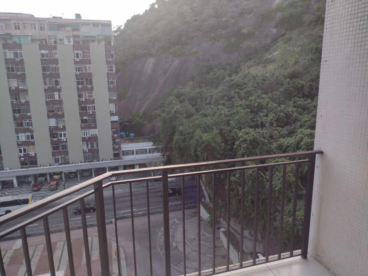 Varanda/ Vista - Flat à venda Avenida Princesa Isabel,Copacabana, Rio de Janeiro - R$ 550.000 - CPFL20015 - 6