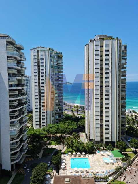 vista parcial do mar - Apartamento 3 quartos à venda Barra da Tijuca, Rio de Janeiro - R$ 1.840.000 - PCAP30067 - 3