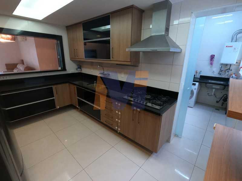 COZINHA ESPAÇOSA  - Apartamento 3 quartos à venda Humaitá, Rio de Janeiro - R$ 1.770.000 - PCAP30077 - 12
