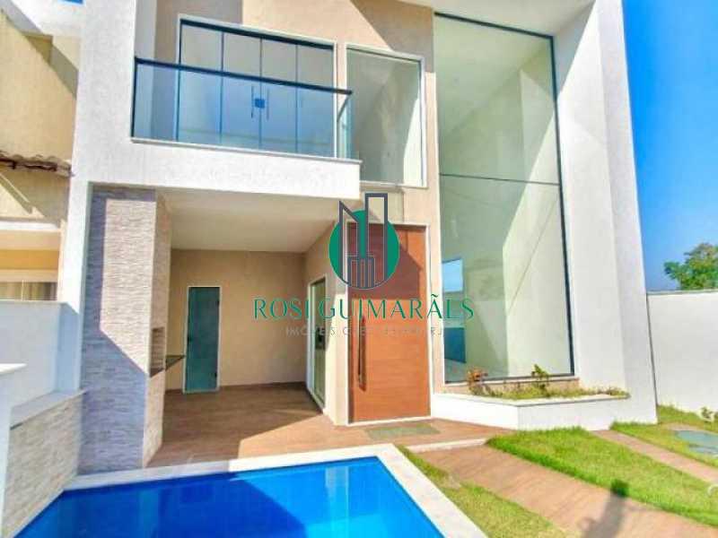 casa_projeto_contemporaneo_3_s - Casa em Condomínio à venda Rua Salomão Malina,Vargem Pequena, Rio de Janeiro - R$ 870.000 - FRCN30035 - 1