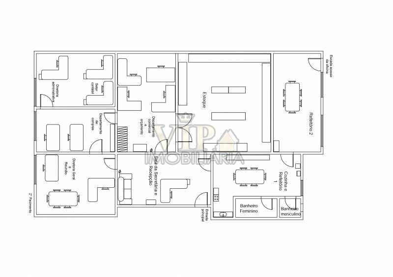 planta baixa - Sala Comercial 180m² à venda Avenida de Santa Cruz,Senador Vasconcelos, Rio de Janeiro - R$ 350.000 - CGSL00018 - 26