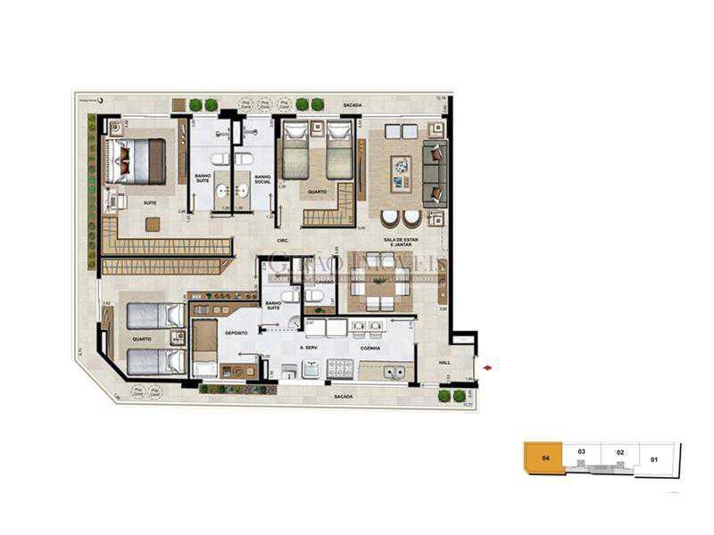 21 Coluna 04 - Apartamento À Venda - Botafogo - Rio de Janeiro - RJ - GIAP40156 - 22