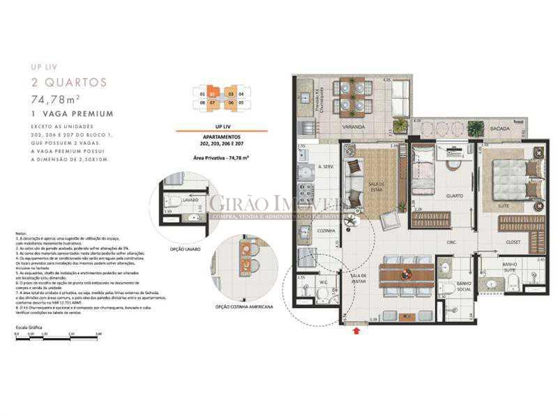 16 Apartamento 2 quartos - Apartamento À Venda - Recreio dos Bandeirantes - Rio de Janeiro - RJ - GIAP20527 - 18
