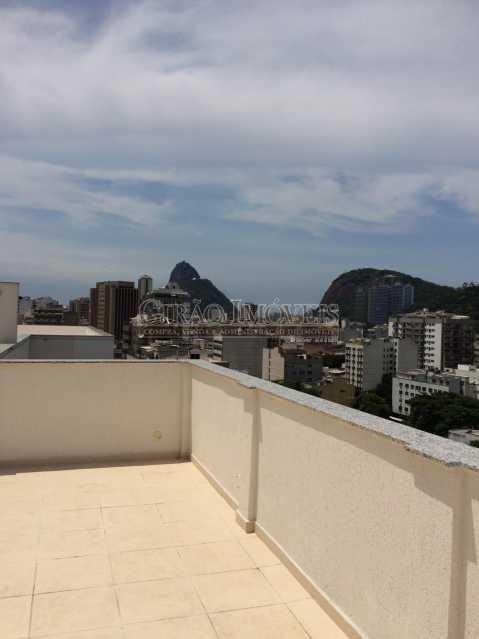 1 - Excelente Cobertura , em Localização Privilegiada, Proximo a Supermercado, Farmacias, a 5 minutos de Humaitá, Copacabana, a 1o do Jardim Botanico, Toda em Porcelanato de bom Nível, composta de Salão com 2 ambientes, 3 dormitórios, todos com armarios embut - GIAP30780 - 1