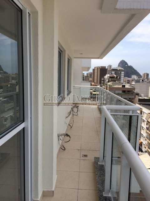 10 - Excelente Cobertura , em Localização Privilegiada, Proximo a Supermercado, Farmacias, a 5 minutos de Humaitá, Copacabana, a 1o do Jardim Botanico, Toda em Porcelanato de bom Nível, composta de Salão com 2 ambientes, 3 dormitórios, todos com armarios embut - GIAP30780 - 14