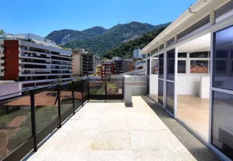 1 - Excelente Cobertura Duplex com Duas salas,6 Qtos, Terraço e 2 Vagas. Em ponto nobre do Jardim Botânico. Vista parcial Lagoa. - GICO60004 - 1