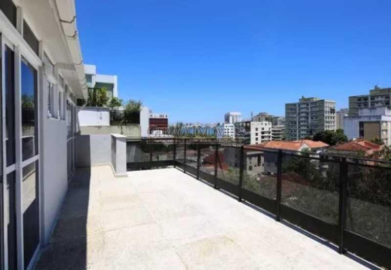2 - Excelente Cobertura Duplex com Duas salas,6 Qtos, Terraço e 2 Vagas. Em ponto nobre do Jardim Botânico. Vista parcial Lagoa. - GICO60004 - 5