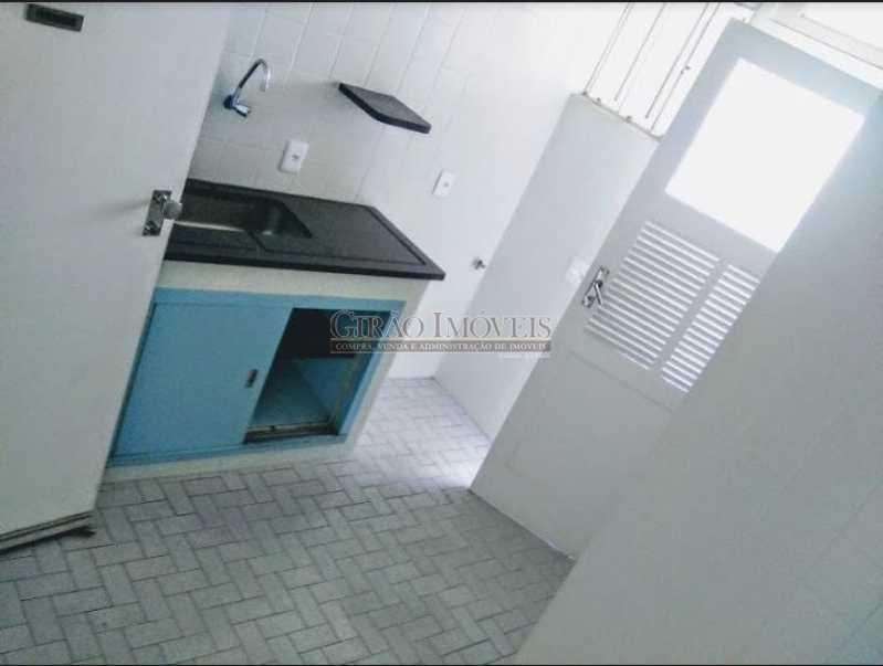 cozinha - Apto com vista parcial mar,vazio,claro e bem dividido. Sala ampla,2 quartos,dependência,1 vaga de garagem - GIAP20773 - 15