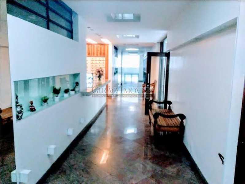 recepção prédio - Apto com vista parcial mar,vazio,claro e bem dividido. Sala ampla,2 quartos,dependência,1 vaga de garagem - GIAP20773 - 21