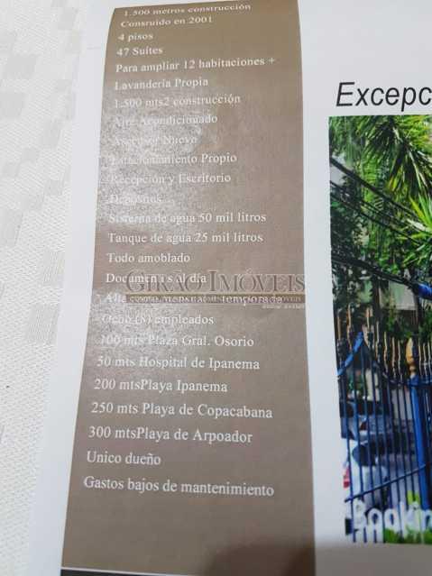d296a5b3-874a-4914-bd11-02a8f4 - Prédio junto ao metrô e Orla de Ipanema. 4 Andares,47 Suites, Área de 1500 M²,2 vagas - GIPR470001 - 21