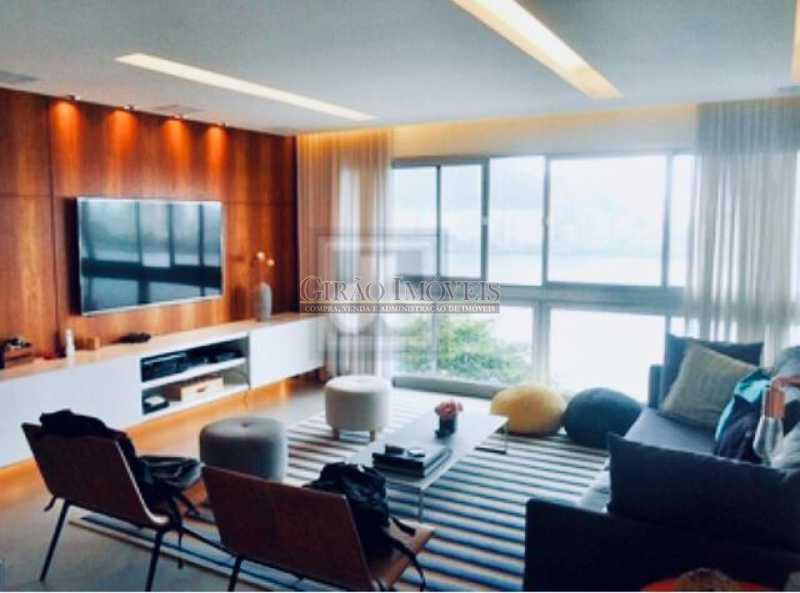 1 - Apartamento frontal Lagoa, vista cinematográfica, 03 quartos(01 suíte), dependências completas, 01 vaga de garagem na escritura. - GIAP31510 - 6