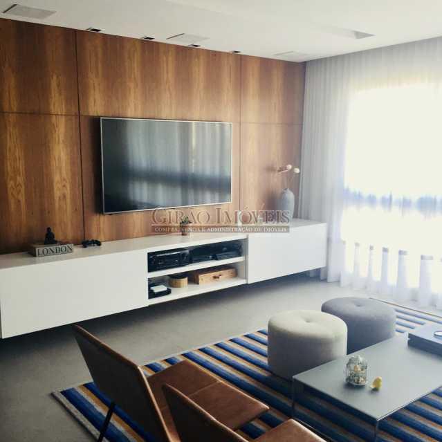 2 - Apartamento frontal Lagoa, vista cinematográfica, 03 quartos(01 suíte), dependências completas, 01 vaga de garagem na escritura. - GIAP31510 - 7