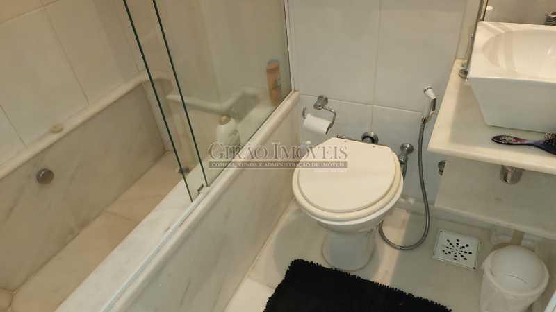 banheiro da suíte com banheira - Dois quartos no Leblon - GIAP21344 - 5