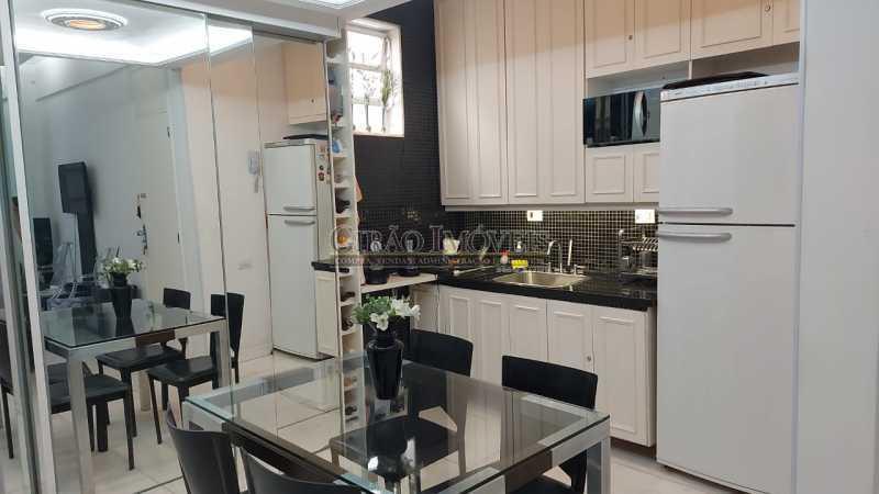 sala de jantar e cozinha - Dois quartos no Leblon - GIAP21344 - 13