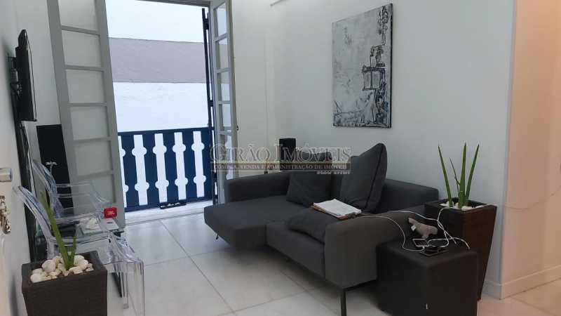 sala e varanda - Dois quartos no Leblon - GIAP21344 - 1