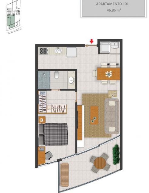 Apartamento 101 - Fachada - Solar - 130 - 2