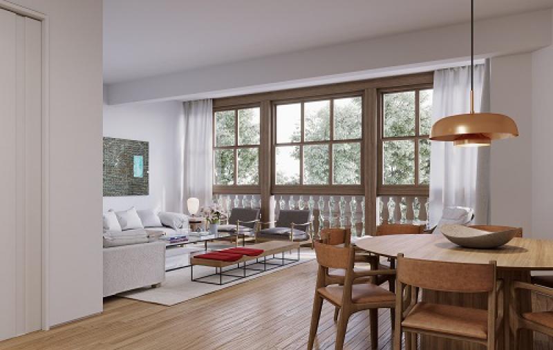 Apartamento Tipo - Coluna 01 - - Fachada - Venâncio Flores - 27 - 10
